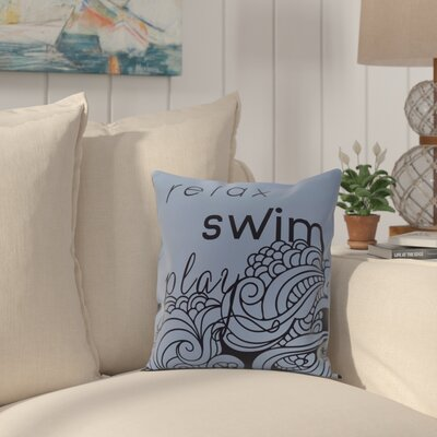 Grand Ridge Mellow Mantra Word Throw Pillow Size: 18 H x 18 W, Color: Blue