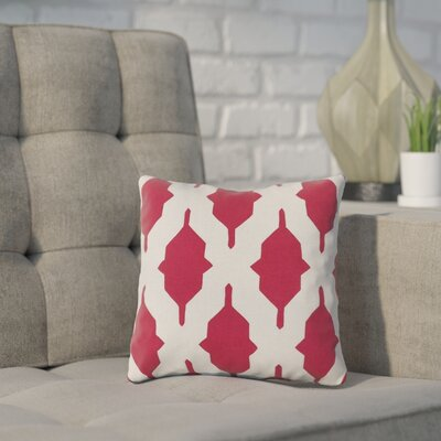 Meadors Throw Pillow Size: 22 H x 22 W x 4 D, Color: Cherry, Filler: Down