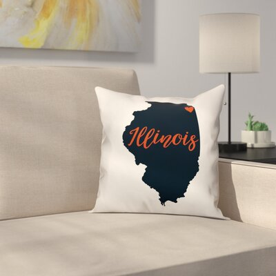 Illinois Pride Throw Pillow