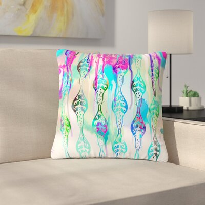 Dan Sekanwagi Seeds of Unity - Variety Paint Outdoor Throw Pillow Size: 16 H x 16 W x 5 D, Color: Teal