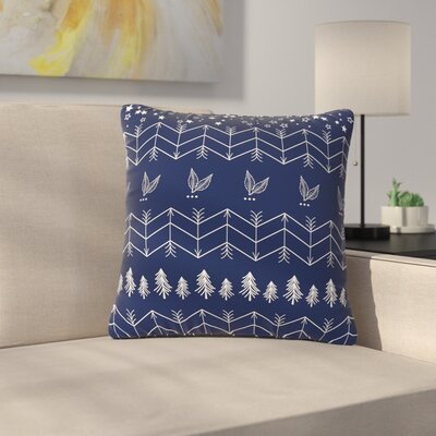 Famenxt Tribal Arrows Jungle Stars Outdoor Throw Pillow Size: 16 H x 16 W x 5 D, Color: Blue
