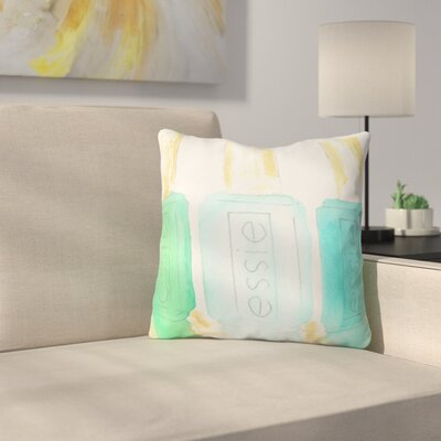 Essie by Laura Trevey Throw Pillow Size: 26 H x 26 W x 7 D, Color: Blue