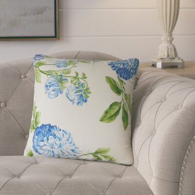 Pontius Floral Cotton Throw Pillow