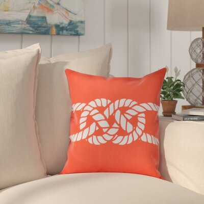 Hancock Carrick Bend Geometric Throw Pillow Size: 16 H x 16 W, Color: Red/Orange