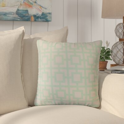 Packer Modern Geometric Cotton Throw Pillow Color: Mint