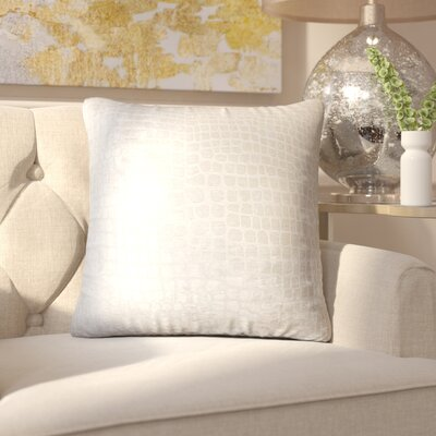 Chaim Solid Throw Pillow Color: Beige