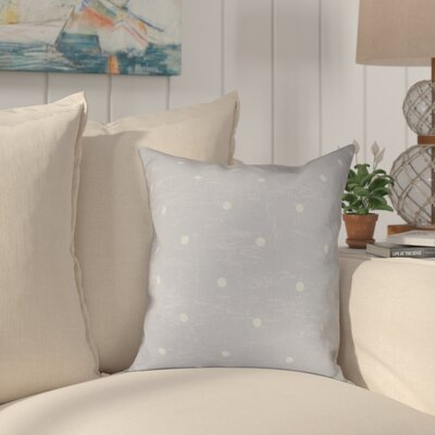 Golden Beach Dorothy Dot Geometric Outdoor Throw Pillow Size: 18 H x 18 W, Color: Gray