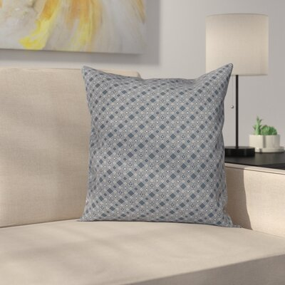 Checked Floral Cushion Pillow Cover Size: 16 x 16