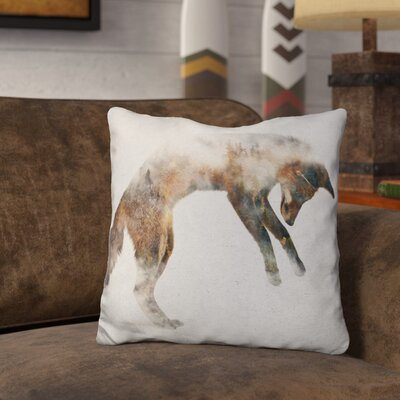 Lentini Jumping Fox Throw Pillow