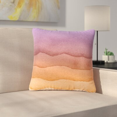 Ombre Digital Outdoor Throw Pillow Color: Sunrise, Size: 18 H x 18 W x 5 D