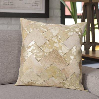 Carentan Throw Pillow Color: Beige/Gold