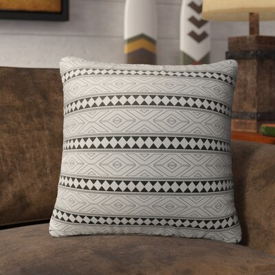 Barbosa Burlap Indoor/Outdoor Throw Pillow Size: 18 H x 18 W x 5 D, Color: Black/ Grey