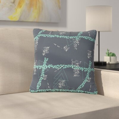 Love Midge Bold Geometric Outdoor Throw Pillow Size: 18 H x 18 W x 5 D, Color: Gray