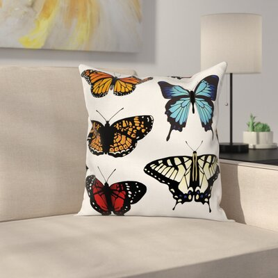 Monarch Square Cushion Pillow Cover Size: 16 x 16