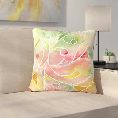Rosie Brown Gift Wrap Outdoor Throw Pillow Size: 16 H x 16 W x 5 D