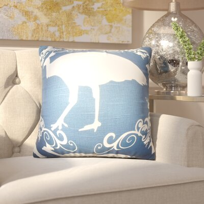Kalea Animal Print Cotton Throw Pillow Color: Premier Navy, Size: 20 x 20