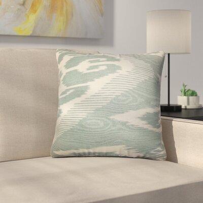 Platz Ikat Linen Throw Pillow Color: Teal