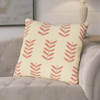 Arnaud Floral Print Outdoor Pillow Color: Seed, Size: 20 H x 20 W x 1 D