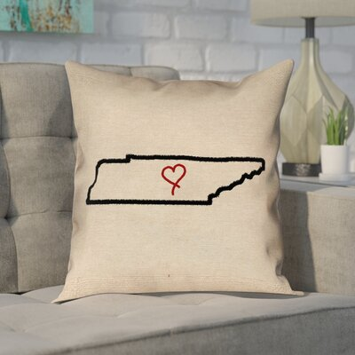 Chaput Tennessee Love Outline Pillow