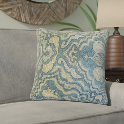 Zadie Damask Throw Pillow Color: Blue