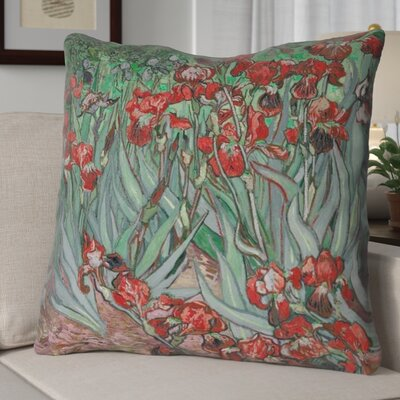 Morley Concealed Irises Euro Pillow Color: Red
