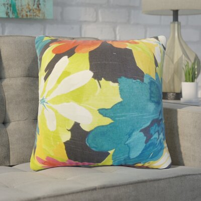 Zavijah Floral Cotton Throw Pillow Color: Berry