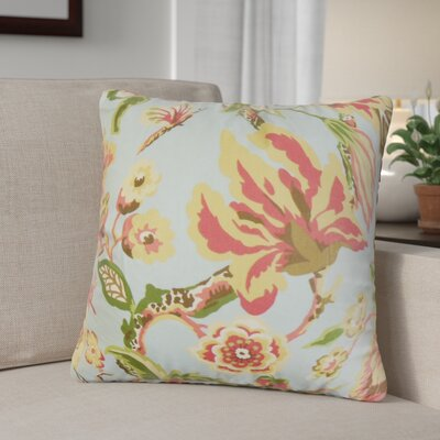 Pearse Floral Throw Pillow Cover Color: Light Blue