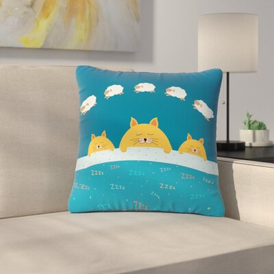 Cristina Bianco Sleeping Cats Zzzz Animals Outdoor Throw Pillow Size: 18 H x 18 W x 5 D