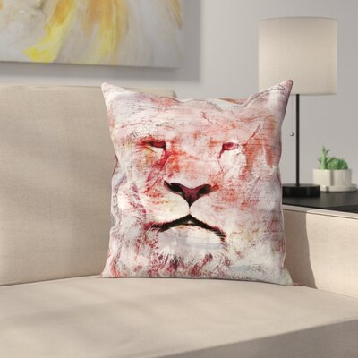 King of Africa Throw Pillow Size: 14 x 14