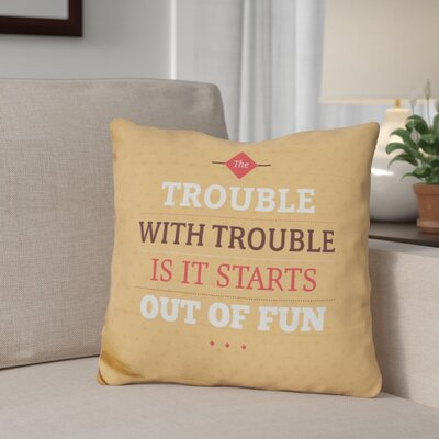 Giannone Fun Trouble Throw Pillow