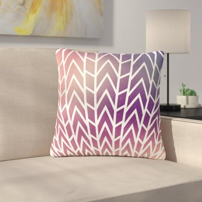 Matt Eklund Shattering Abstract Outdoor Throw Pillow Size: 16 H x 16 W x 5 D, Color: Purple