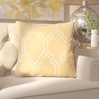 Honiton Linen Throw Pillow Size: 22 H x 22 W x 4 D, Color: Gold