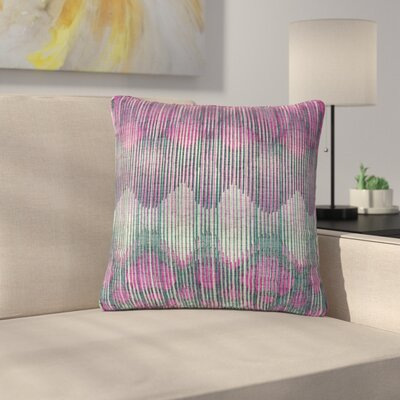 Michelle Drew Vintage Outdoor Throw Pillow Size: 18 H x 18 W x 5 D, Color: Magenta