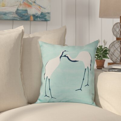 Boubacar Stilts Animal Print Outdoor Throw Pillow Size: 18 H x 18 W, Color: Aqua