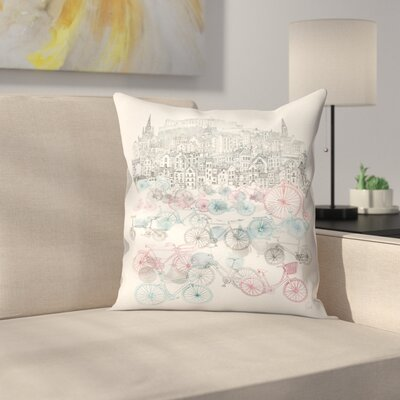 Old Town Bikes Throw Pillow Size: 18 x 18