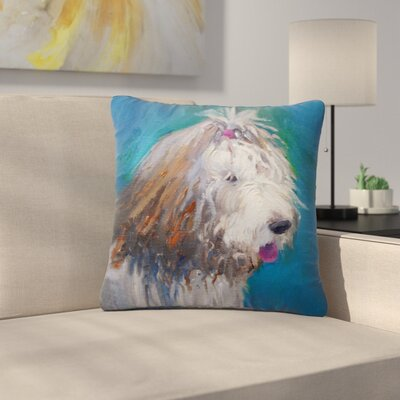 Carol Schiff Shaggy Dog Story Animals Outdoor Throw Pillow Size: 16 H x 16 W x 5 D