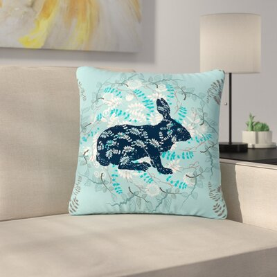 Famenxt Bunny in the Jungle Animals Outdoor Throw Pillow Size: 18 H x 18 W x 5 D