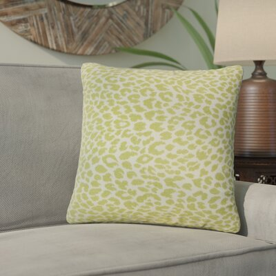 Motyka Animal Print Throw Pillow Color: Kiwi