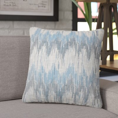 Koussa Ikat Throw Pillow Color: Natural Blue