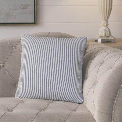 Melinda Stripes Throw Pillow Cover Color: Navy