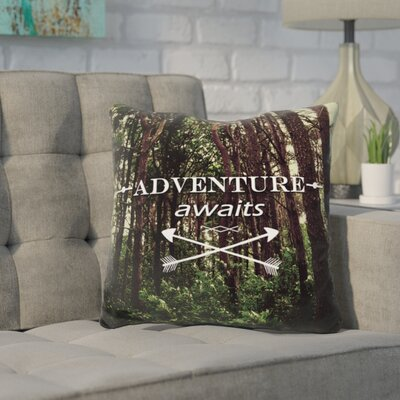 Kendig Adventure Awaits Throw Pillow