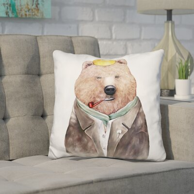 Heuer Brown Bear Throw Pillow
