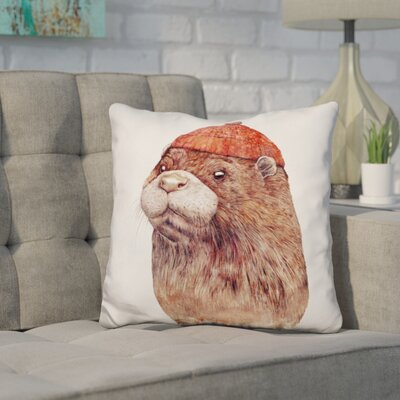 Hetzel Otter Throw Pillow