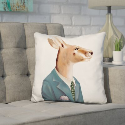 Heskett Kangaroo Throw Pillow