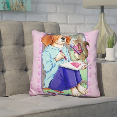 Coria Beagle Artist Throw Pillow