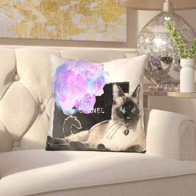 Blaxcell Siamese Cat Shopping Bags Throw Pillow