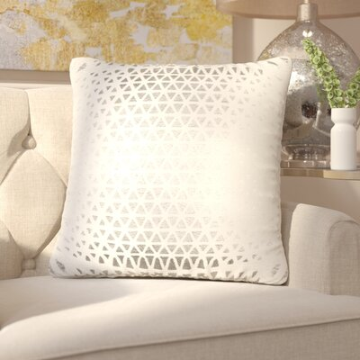 Joellen Decorative Cotton Throw Pillow Color: Silver