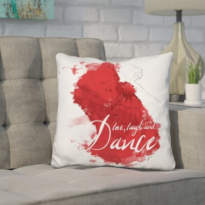 Herold Dance splatter Throw Pillow