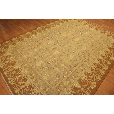 One-of-a-Kind Replogle Soumac Oriental Hand-Knotted Wool Gold/Brown Area Rug