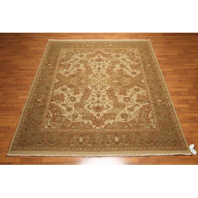 One-of-a-Kind Replogle Soumac Oriental Hand-Knotted Wool Brown/Beige Area Rug